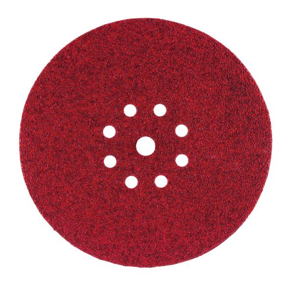 Schuurschijf 225 mm red velcro