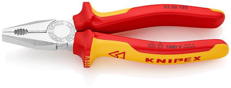 Knipex® 0306180 Combinatietang VDE 180 mm | Mtools