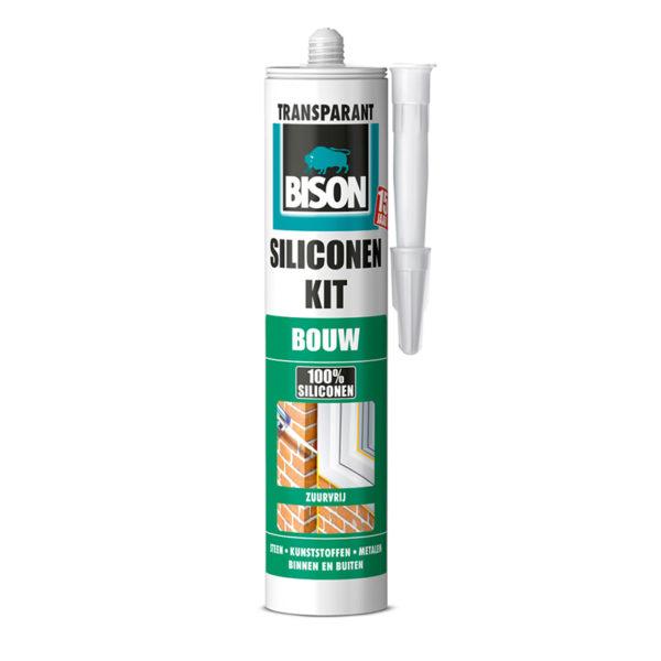 Bison Siliconekit Bouw Transparant 300ml | Mtools