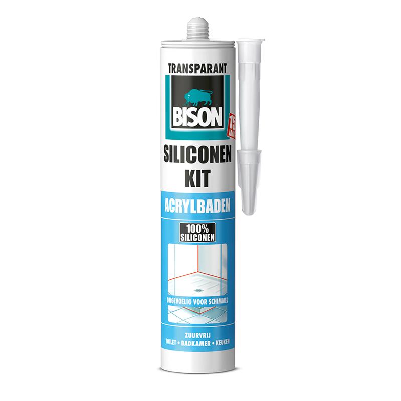 Bison Siliconekit Acrylbaden Transparant 310ml | Mtools