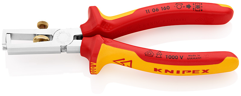Knipex® 1106160 Isolatie-striptang VDE 160 mm | Mtools