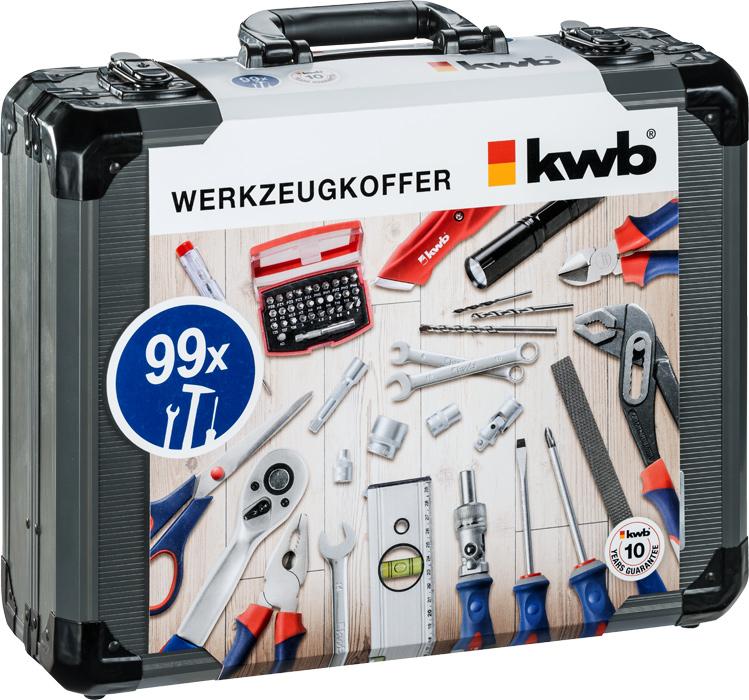 KWB gereedschapskoffer, 99-delig 370760 | Mtools