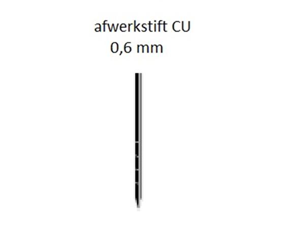 Dutack Stift 0,6 X 22 Mm. Koper | Mtools