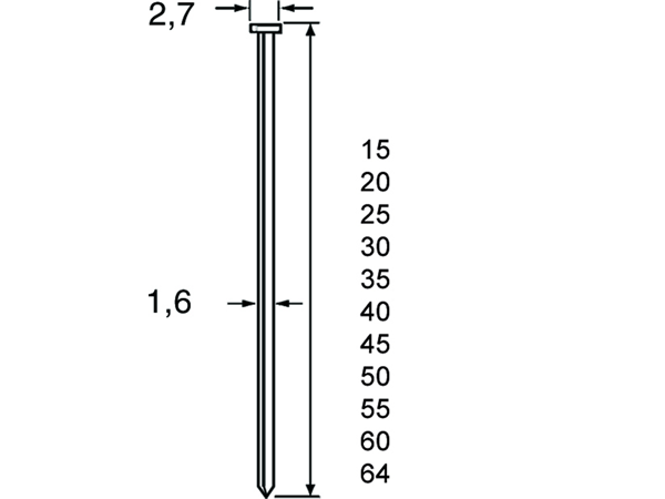 Dutack Brad Skn16 15 Mm. Verzinkt   Mtools