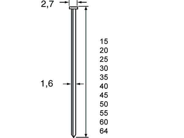 Dutack Brad Skn16 64 Mm. Verzinkt | Mtools