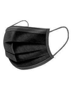 Mondmasker, mondkapje zwart, 3-laags