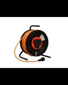 QwattPro BM300 Kabelhaspel vinyl 50m. 3x1,5 mm.