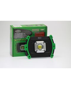 Oplaadbare Accu Werklamp 10W COB LED en Powerbank in1
