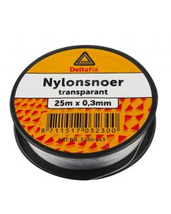NYLON SNOER TRANSPARANT 1 MM DIK / 25 MTR LANG