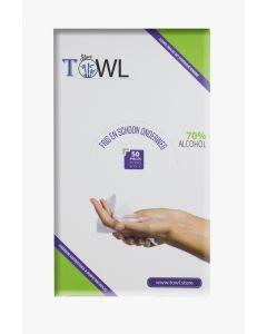Towl Antibacteriële & Hygiënische doekjes per stuk verpakt 50 st. in doos