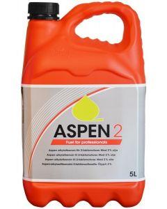 Aspen 2 FRT: schone alkylaatbenzine voor tweetaktmotoren.