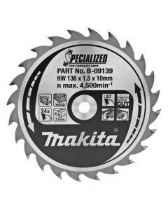 Makita B-09139 Cirkelzaagblad Hout