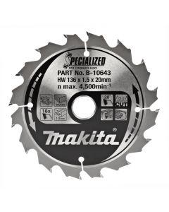 Makita B-10643 Cirkelzaagblad Hout