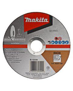 Makita B-12239 Doorslijpschijf 125x22,23x1,0mm RVS