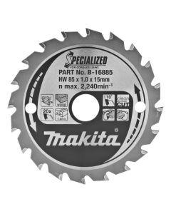 Makita B-16885 Cirkelzaagblad Hout