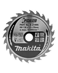 Makita B-21995 Cirkelzaagblad Hout
