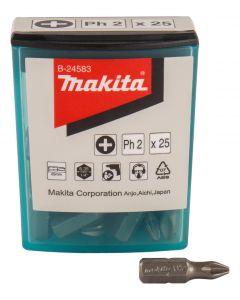 Makita B-24583 Schroefbit PH2x25mm 25 stuks