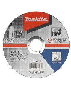Makita B-35134 Doorslijpschijf 125x22,23x1,6mm staal