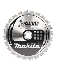 Makita B-40587 Afkortzaagblad Hout (noest/spijker)