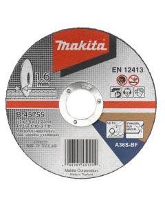 Makita B-45755 Doorslijpschijf 115x22,23x1,6mm RVS