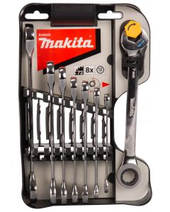 Makita B-65523 Steek-ring ratelsleutelset 8-delig
