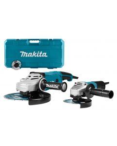 Makita DK0054X1 230 V Haakse slijperset 125/230 mm