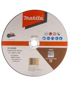 Makita E-03006 Doorslijpschijf 230x22,23x2,0mm RVS