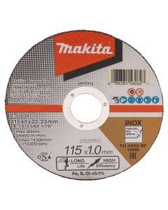 Makita E-03034 Doorslijpschijf 115x22,23x1,0mm RVS