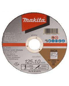 Makita E-03040-25 Doorslijpschijf 125x22,23x1,0mm RVS