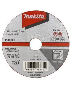 Makita P-40010 Doorslijpschijf 115x1,5mm alu