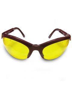 Veiligheidsbril JSP Stealth Maroon gele lens