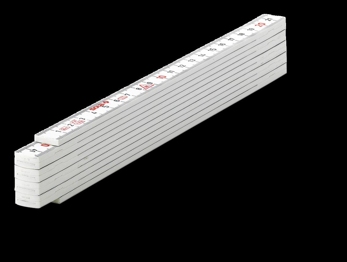 Sola duimstok kunststof 2m. 10-delig wit   Mtools