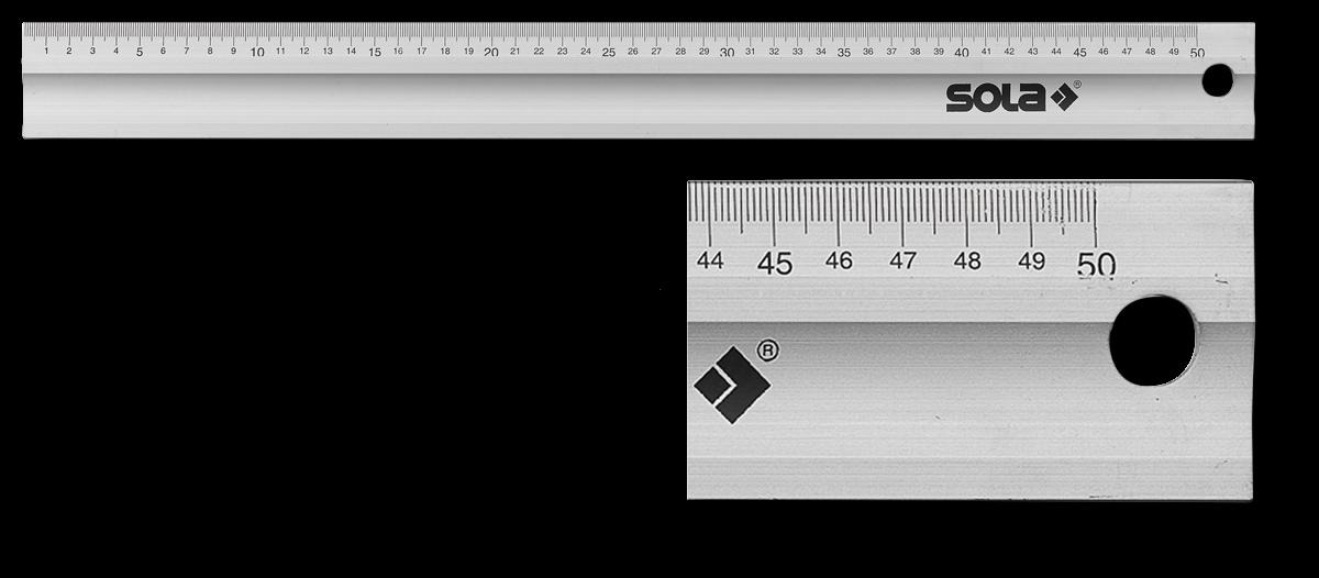 Sola Werkplaatslineaal LAB500 ALU 500x50x5 mm. | Mtools