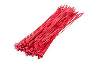 DX Bundelbanden / Tiewrap 3.6 x 200 mm, Rood | Mtools