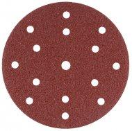 Schuurschijven 150 mm red velcro 15 gaats