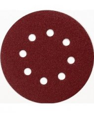 Schuurschijf 125 mm red velcro